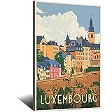 Vintage-Reise-Poster Luxemburg, Leinwand-Kunstdruck, Bild,