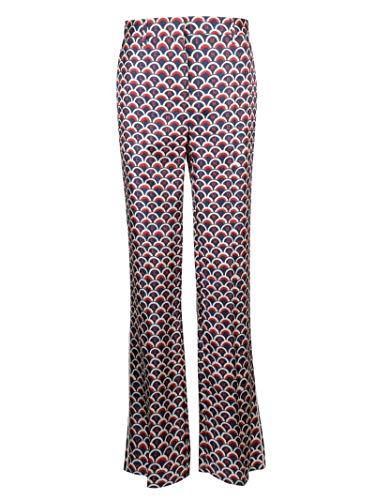 Valentino Luxury Fashion Damen RB3RB2X04ESMBY Multicolour Seide Hose | Jahreszeit Permanent