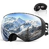 SKEY Gafas de esquí, Antivaho, Lentes Dobles protección UV, Gafas a Prueba de Viento...