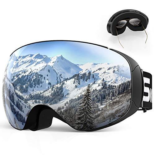 SKEY Skibrille Herren und Damen Snowboard Brille Doppel-Objektiv...