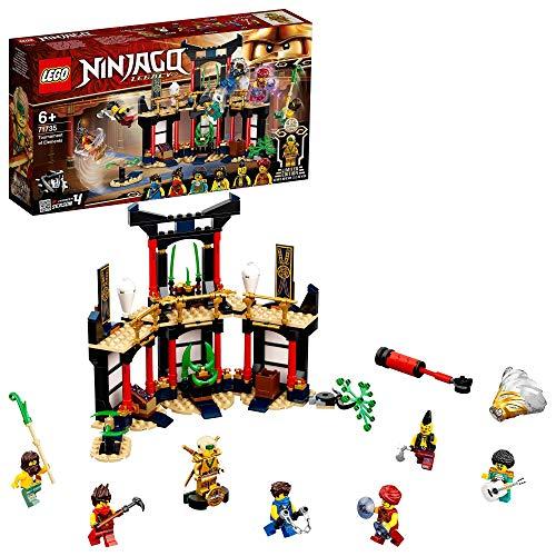 LEGO 71735 NINJAGO Turnier der Elemente Tempel Bauset mit Kampfarena und sammelbarer Figur des Goldenen Ninja...