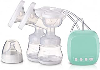Massager Breastfeeding Pump 2-in-1 Double Electric Breast Pump 2 Modes 9 Levels Adjustment for Automatic Breastfeeding and...