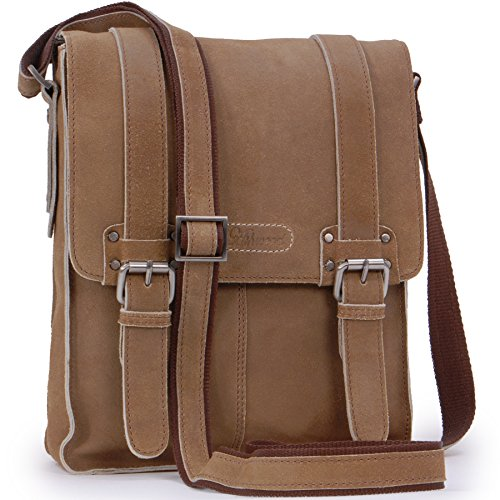 Ashwood Cross Body Tas - Kindle/iPad/Tablet maat - Kleine Schouder/Messenger/Koerierstas - Distressed Leer - Ed - CAMDEN 8355 - Tan