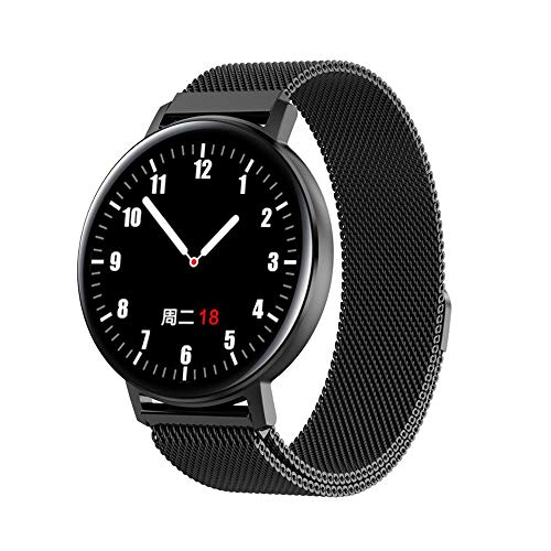 LHTCZZB Pulsera inteligente IP68 Reloj de pantalla táctil completa Bluetooth Fitness Tracker Monitoreo de ritmo cardíaco Modo de ejercicio Modo de ejercicio Batería larga batería Batería adecuada para