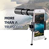 4K 10-300X40mm Super Telephoto Zoom Monocular Telescope, Portable Durable and Clear Focus Monocular, for Camping, Hiking and Outdoors (B)