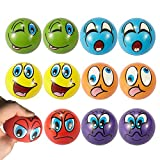 Emoji Stress Balls 12 PCS Fun Emoji Squeeze Ball Happy Face Stress Ball