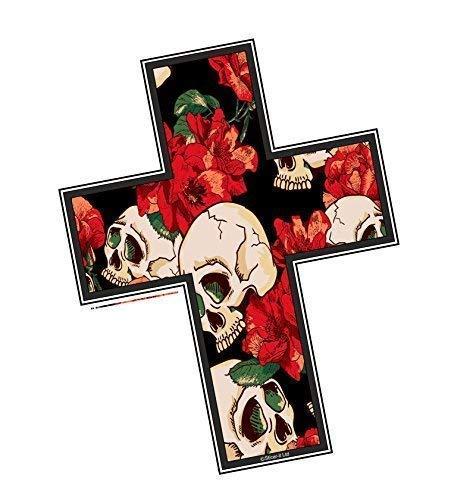 Crucifijo Cristiano Religioso Cruz Motivo con Estilo Tatuaje Gótico C