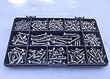 410 piezas Pozi Pan Kit de tornillos autorroscantes No.2, No.4, No.6 y No.8. Acero inoxidable A2-70.