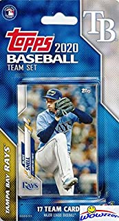 Tampa Bay Rays 2020 Topps Baseball EXCLUSIVE Special Limited Edition 17 Card Complete Factory Sealed Team Set with Kevin K...
