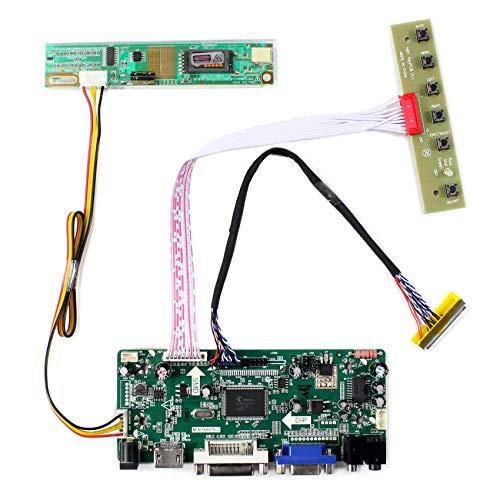 HDMI + VGA + DVI + Audioeingang LCD-Controller-Karte für LTN154AT07 LTN141AT02 14.1
