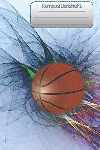 Kompositionsheft: Hochschule GRAFIKPAPIER | Basketball-Notizbuch | (6 x 9 Zoll) 120 Seiten | Für Jungen Mädchen Kinder Jugendliche Studenten |