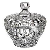 Cristal de Bohemia Tallada Bombonera, Cristal, 14,5x14,5x14 cm