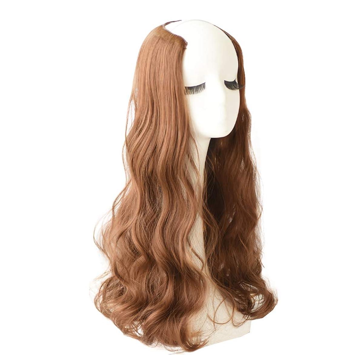 道パワーバケットフルヘッドカーリーウェーブインエクステンションヘアピース女性用新Vタイプヘアエクステンション小さいサイズと、頭皮の通気性が強い