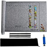 Jigsaw Puzzle Roll Mat, Puzzle Storage Felt Mat, Roll Up Puzzle Mat Travel Puzzle Blanket,Puzzle Accessory Puzzle Table for Up to 1500 Pieces Puzzles Travel Storage Bag