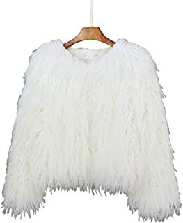 Adonis Pigou Winter Fluffy Faux Fur Coat Women's Shaggy Jacket Long Sleeve Outwear
