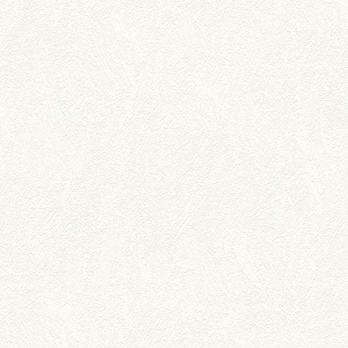 Vliestapete Mustertapete Tapeten mit Muster 334442 33444-2 A.S. Création Meisterputz 15 m | Weiß | Muster (21 x 29,7 cm)