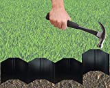 Harrier EZ Edge Hammer-in Interlocking Lawn and Garden Edging, 20 Linear Feet