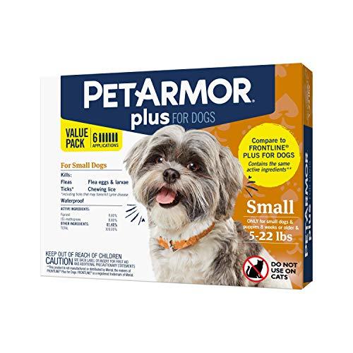PETARMOR Plus Flea and Tick Prevention for Pugs