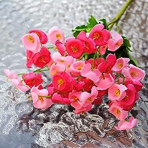 lamta1k Artificial Falsa Flor de Campanilla de Seda Colores Vibrantes con un Toque Real con un Aspecto Natural Ramo de…