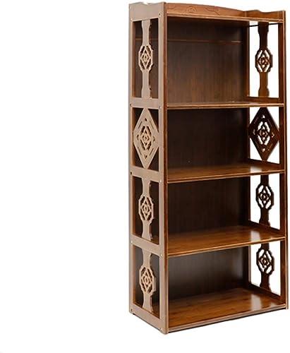 contador genuino Librerías Librerías Librerías Estante para Libros Estante de bambú del Vintage Estantes Estante de Estudiante Simple Estante de bambú Simple de la Sala de Estar (Color   marrón, Talla   43x28x132cm)  alta calidad