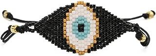 Handmade 100% Authentic Miyuki Seed Beads Couples Bracelet Woven Good Luck Vintage Evil Eye Adjustable Amulet Charms Bangle Jewelry