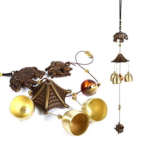 LKXHarleya Vendange Éléphant Métal Vent Carillons Antirouille Cloches Suspendus