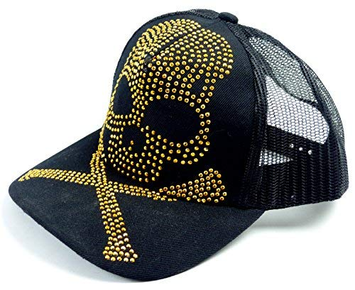 Muchos Killer Caps Calavera capschirmm ützen Skull Caps Tachuelas negro Talla única (Ropa)