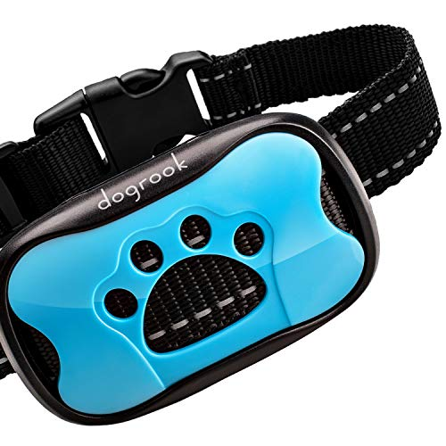 DogRook Rechargeable Dog Bark Collar - Humane, No Shock Barking Collar - w/2 Vibration & Beep Modes - Small, Medium, Large Dogs Breeds - No Harm Training - Automatic Action Without Remote - Adjustable