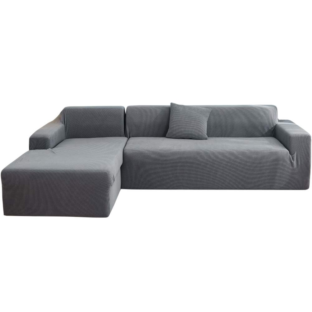 SC Funda para sof/á Cama de 3 plazas de poli/éster sof/á Cama de 3 plazas IKEA Friheten y Funda de sof/á seccional Chaise Lounge on Left 02 poli/éster Gris Claro-l Funda de sof/á Cama no incluida