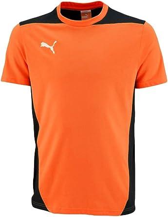 PUMA Foundation tee Team Orange Foundation tee - Camiseta de Manga Corta, Color Naranja Hombre