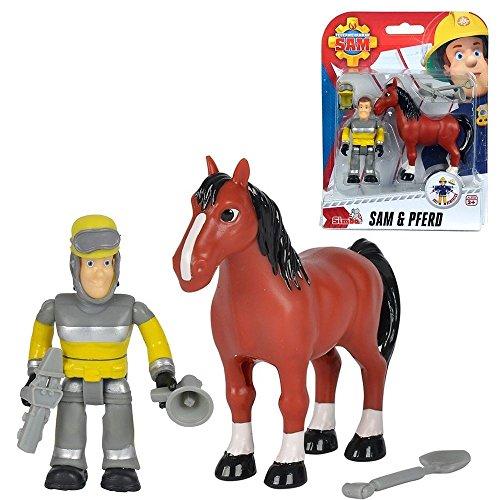 Feuerwehrmann Sam Tierrettung Sam & Pferd Spiel Figuren Set | Simba