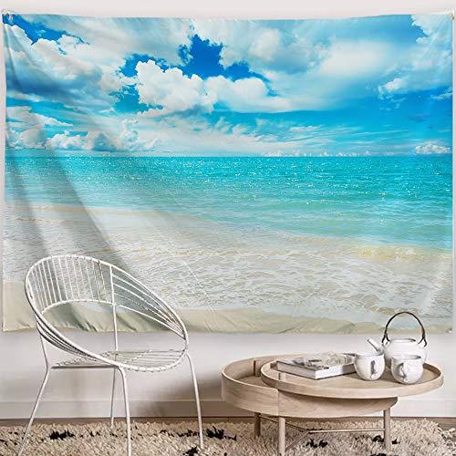 Baccessor?タペストリー 海と青空 自然風景 オシャレ 多機能壁掛け 壁画 南国風情 リビングルーム インテリアー ハワイ風情 装飾用品 ポリエステル100% 三つサイズ (150 x 130 cm)