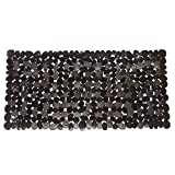 Non-Slip Pebbles Stone Bath Mats,Slip-Resistant Pebble Shower Mats, Anti-Slip Bathtub Mats, Machine Washable (Black, 14' W x 27' L, Please Check The Size)