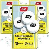 PIC - Silberfisch-Köderdose - Silberfische bekämpfen durch Wirkstoff Tabletten - Ganz einfach zu verwenden nur die Silberfisch-Köder aufstellen und das Problem vergessen (9 Dosen)