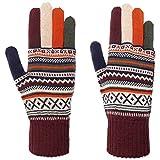 Lierys Guantes de Punto Liova Merino Mujer - Made in Italy lana con dedos otoño/invierno - talla única multicolor