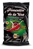 Pimentón de la Vera Ahumado, Producto con la Denominación de Origen Protegida D.O.P. Condimento Apto para Celíacos. (Dulce, 500g)