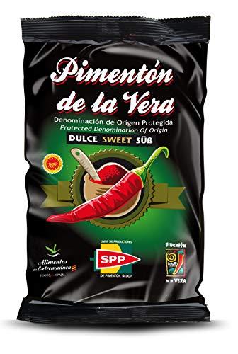 Pimentón de la Vera Ahumado, Producto con la Denominación de Origen Protegida D.O.P. Condimento Apto para Celíacos. (Dulce, 250g)