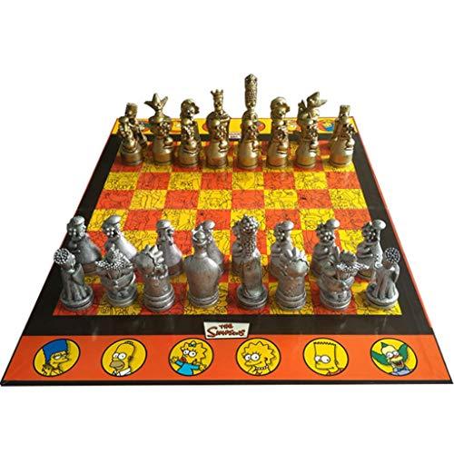 Yayan Juego de ajedrez para muñecas de ajedrez, decoración de gama alta, juego de ajedrez de muñeca de dibujos animados, para niños, estudiantes y niños de ajedrez (color: B)