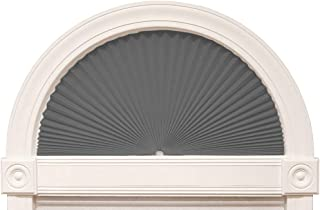 "Zipcase Arch Light Filtering Fabric Shade fit for Perfect Half-Round Arch Windows No Tools Installation, Grey, 72"" x 36"", Pack of 2"