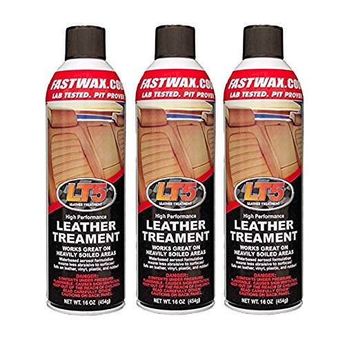 Fast Wax LT5 High Performance Leather Treatment Cleaner and Conditioner by FW1 (3 Pack)