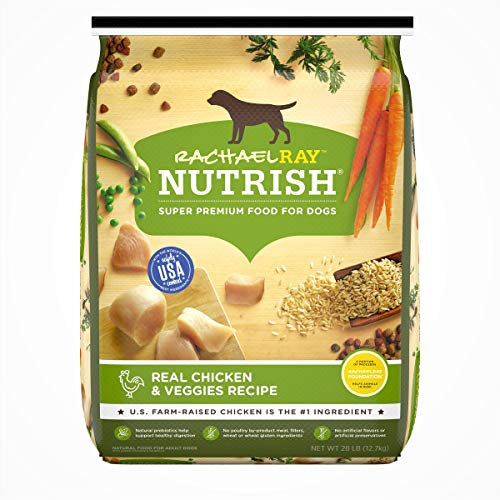 Rachael Ray Nutrish Premium Natural Dry Dog Food, Real Chicken & Veggies Recipe, 28 Lb