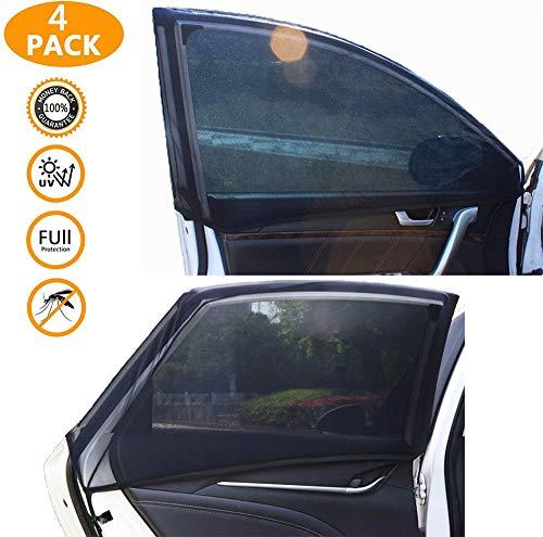 ZONSUSE Auto Verdunkelungsvorhänge Sonnenblenden für Baby Mit UV Schutz hochtemperaturbeständig und langlebig Sonnenschutz Netz Anti-Moskitonetz (4pcs (Without Holes) 120 * 60 * 55cm / 120 * 21 *)