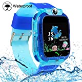 SZBXD Kids Smartwatches, Waterproof LBS/GPS Tracker Phone SOS Touchscreen Smartwatch Games Clock Smart Watch Christmas Birthday Gifts for School Boy Girls