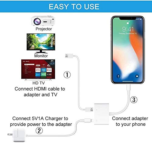 [Apple MFi Certified] Lightning to HDMI for iPhone