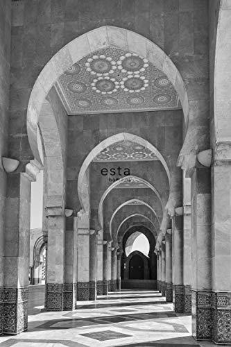 papier peint mural Galerie de Riad marocain Marrakech noir et blanc - 158824 - d'ESTAhome.nl