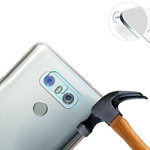 Lusee 2 Stück Kamera Panzerglas für LG G6 5.7 Handy Kamera Protector Linse Schutzfolie Hohe Transparenz [Anti Kratzer] [Anti Fingerabdruck] Panzerglas Kameraschutzfolie