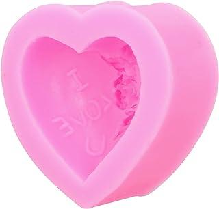needlid Bricolage Outils de Moule, Moule en Silicone en Forme de Coeur sûr Multifonctionnel pour la décoration de gâteau S...