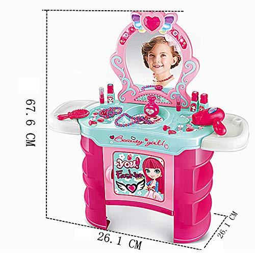 HUDEMR Schlafzimmer Schminktische Kinder Simulation Mädchen Dresser Spielhaus Spielzeug-Set Rosa 66.6x26.1x26.1cm Kindermöbel (Color : Pink, Size : 66.6x26.1x26.1cm)