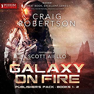Galaxy on Fire: Publisher's Pack                   By:                                                                                                                                 Craig Robertson                               Narrated by:                                                                                                                                 Scott Aiello                      Length: 13 hrs and 17 mins     159 ratings     Overall 4.6
