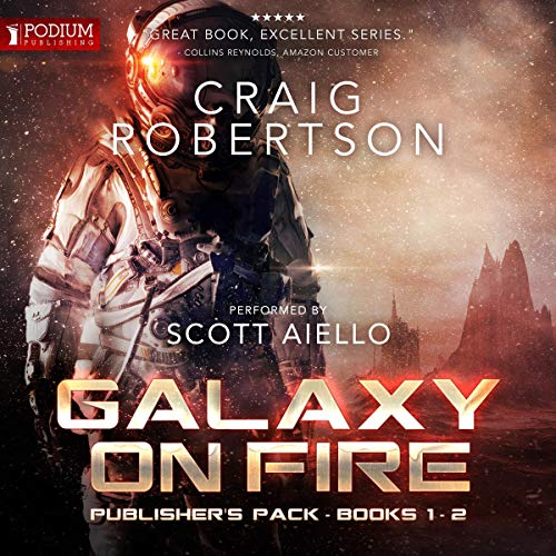 Galaxy on Fire: Publisher's Pack                   By:                                                                                                                                 Craig Robertson                               Narrated by:                                                                                                                                 Scott Aiello                      Length: 13 hrs and 17 mins     191 ratings     Overall 4.6